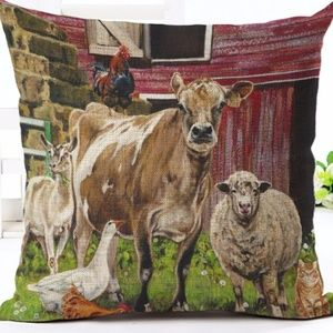 Other - Pillow Cover- New- Country Barnyard Farm Animals